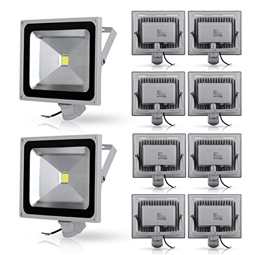10x50w led projecteur ext rieur int rieur noir spot avec d tecteur de mouvement pas cher avis. Black Bedroom Furniture Sets. Home Design Ideas